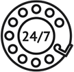 icon-24-7 Server Monitoring